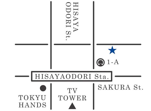 名古屋のメンズセレクトショップZODIACのアクセスマップ