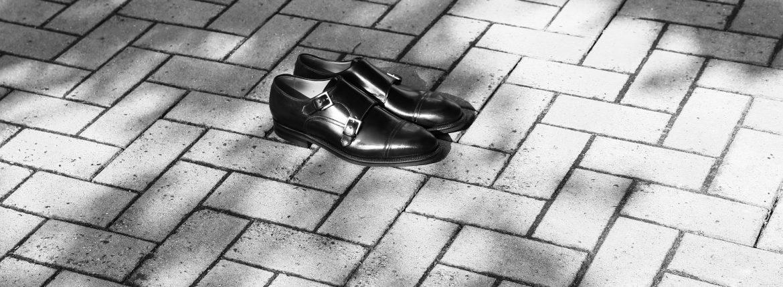 ENZO BONAFE(エンツォボナフェ) EB-02 double monk strap shoes(ダブルモンクストラップシューズ) Horween Shell Cordovan leather(ホーウィン シェルコードバン) NERO(ブラック)のイメージ