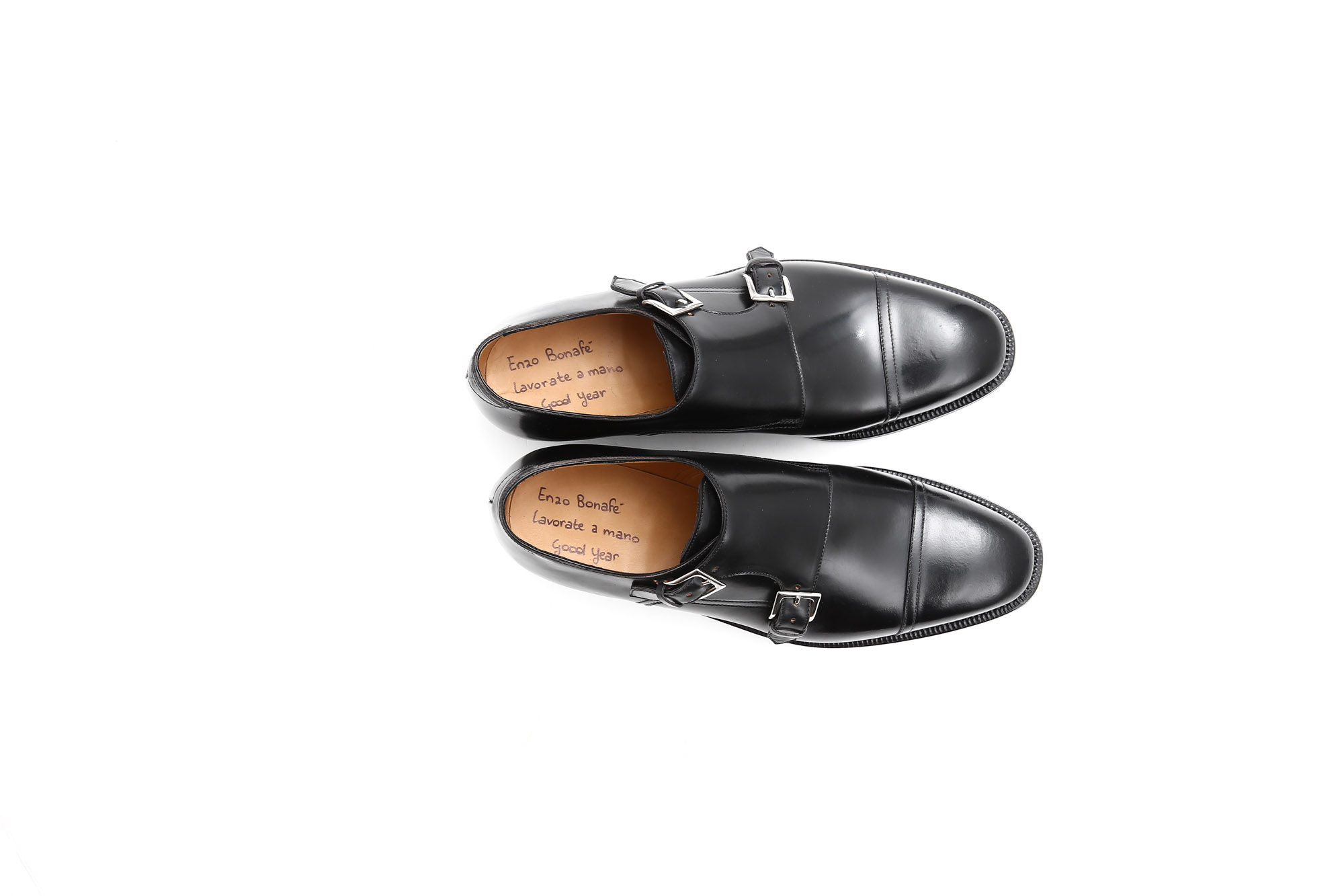 エンツォボナフェ(ENZO BONAFE) ダブルモンクストラップシューズ(double monk strap shoes)ホーウィンシェルコードバンHorween Shell Cordovan leather  ブラック(NERO)  愛知 名古屋 Alto e Diritto アルト エ デリット 取扱い ボナフェ 別注