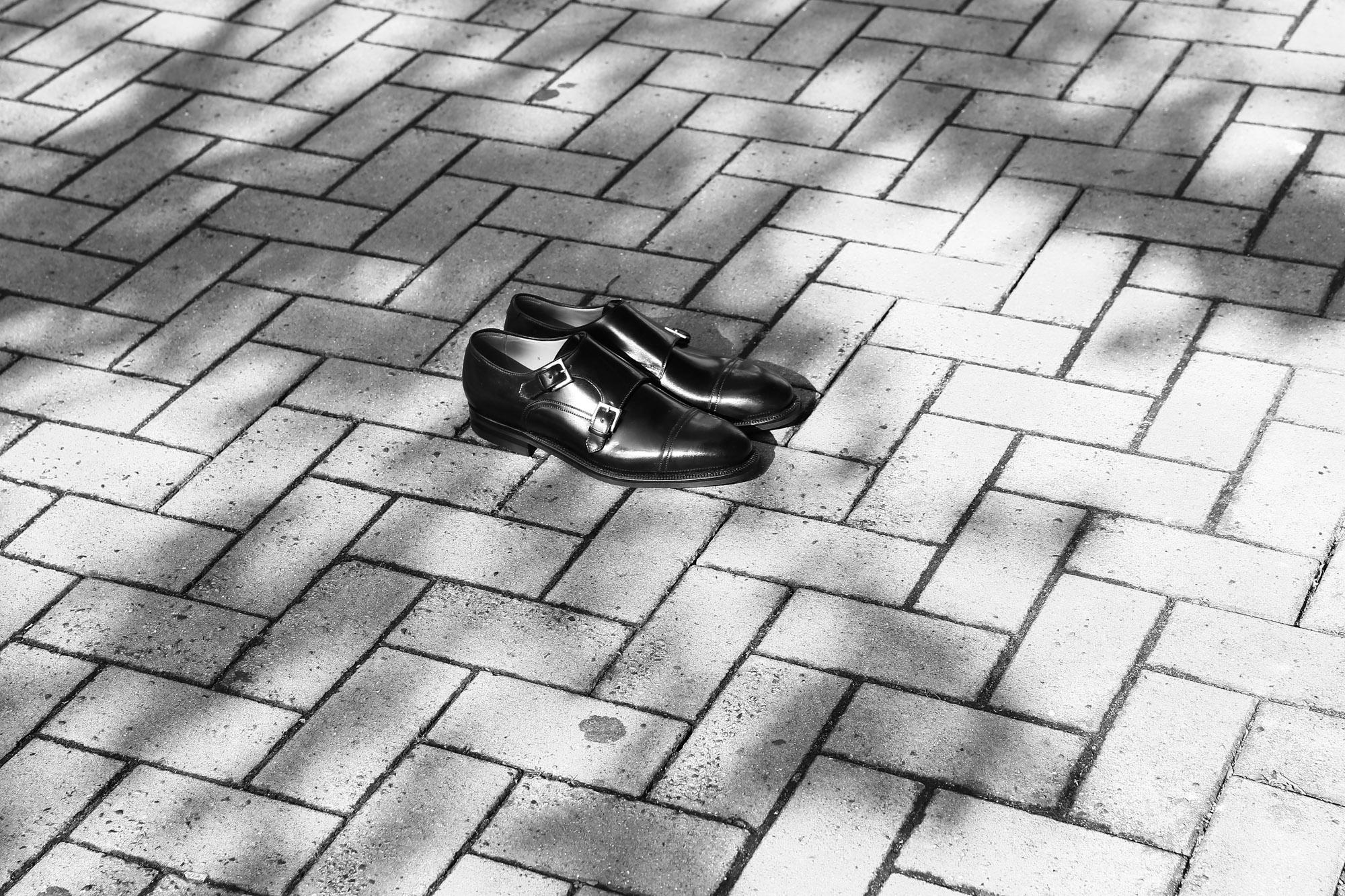 ENZO BONAFE(エンツォボナフェ) double monk strap shoes(ダブルモンクストラップシューズ) Horween Shell Cordvan leather(ホーウィン シェルコードバン) NERO(ブラック)  コードバン ドレスシューズ 愛知 名古屋 入荷です。