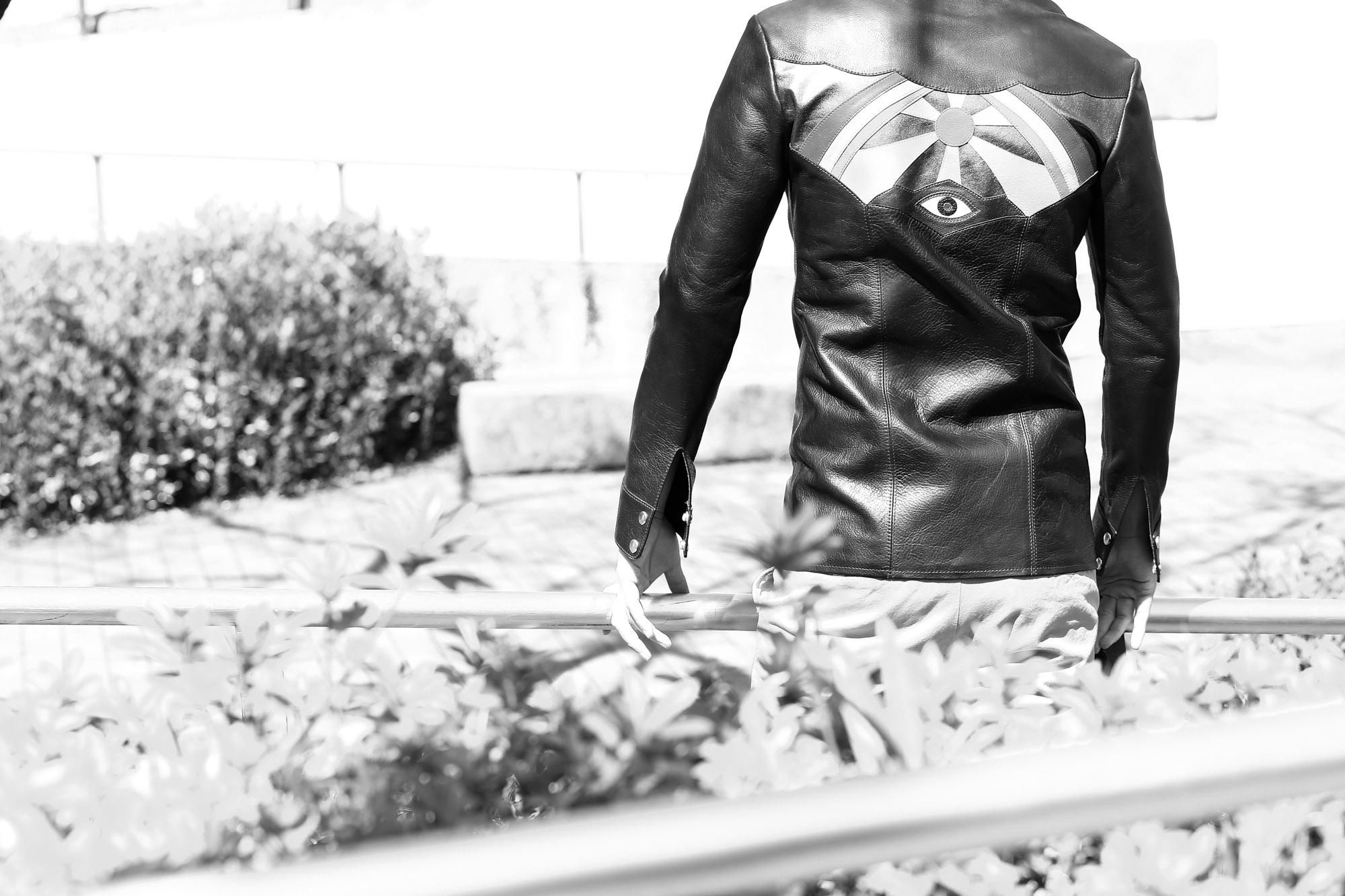 SOUTH PARADISO LEATHER (サウスパラディソレザー) EAST WEST(イーストウエスト) ILLUMINATI RAINBOW SHIRTS(イルミナティレインボーシャツ) レザーシャツ BLACK(ブラック) レザーシャツ パラディソ 愛知 名古屋 ZODIAC ゾディアック 入荷