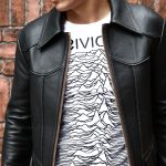 South Paradiso Leather(サウスパラディソレザー) East West イーストウエスト SMOKE スモーク Cow Hide Leather レザージャケット BLACK(ブラック)のイメージ