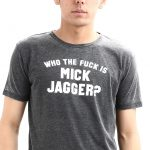 WORN BY(ウォーンバイ) Who The Fuck Is Mick Jagger ? The Rolling Stones(ザローリングストーンズ) バンドTシャツ CHARCOAL(チャコール)のイメージ