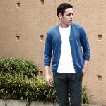 ZANONE(ザノーネ) CARDIGAN Sweaters V-Neck 811904 zy367 Vネックカーディガン BLUE(ブルー・Z3888)のイメージ
