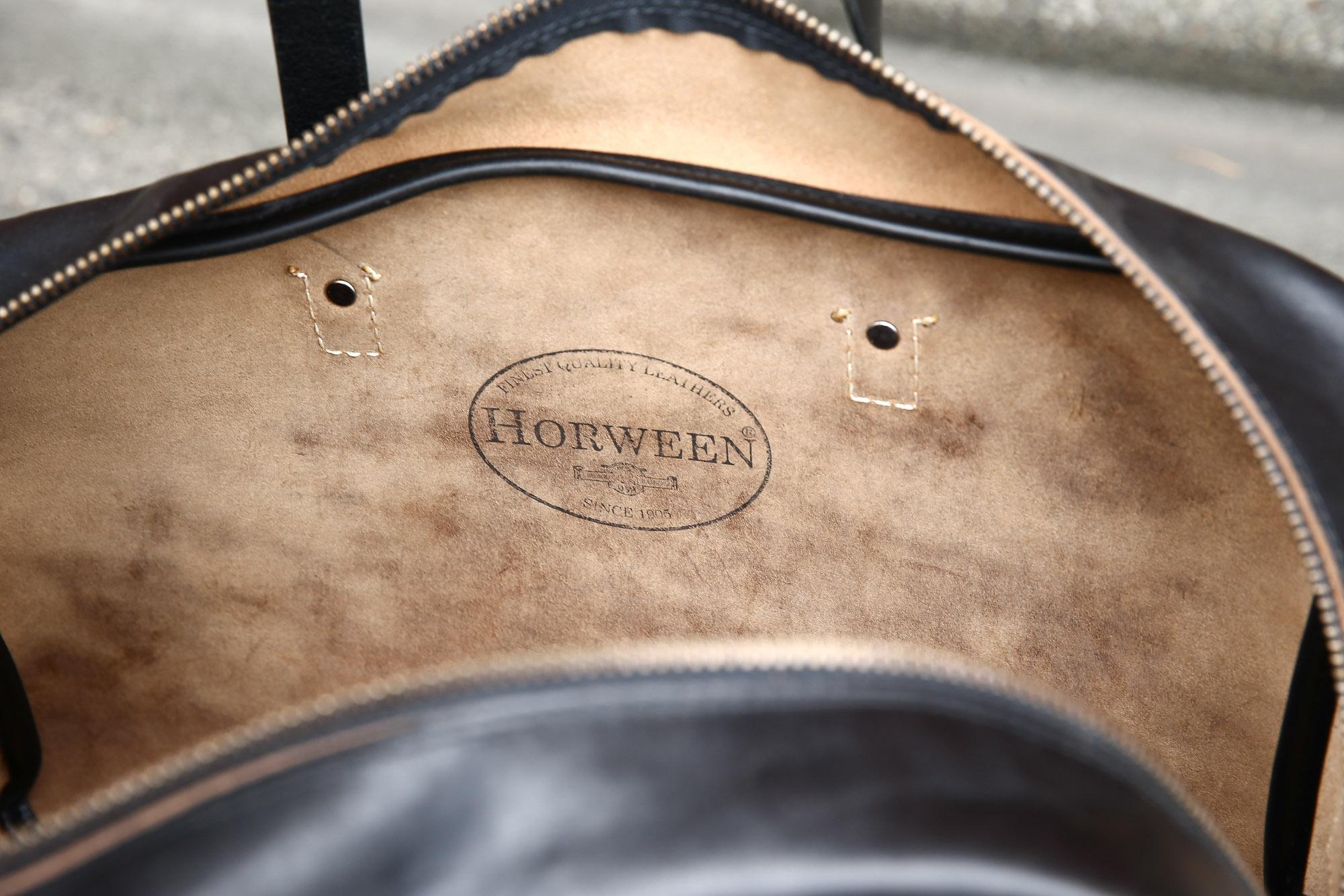 CORONADO LEATHER(コロナドレザー) Horween Chromexcel Leather ホーウィン社クロムエクセルレザー CXL Duffle#105 レザーダッフルバック BLACK(ブラック) のコーディネート画像。