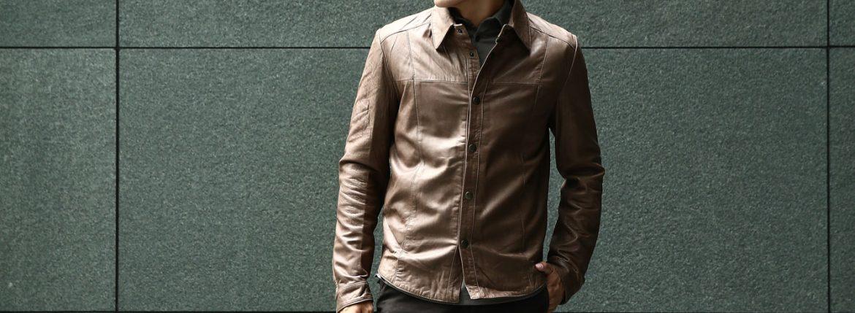 Radice(ラディーチェ) 1009 CmicaLamb Napa Leather ラムナッパレザー レザーシャツ TABACCO(タバコ)のイメージ