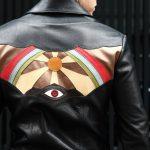 South Paradiso Leather(サウスパラディソレザー) East West イーストウエスト ILLUMINATI RAINBOW SHIRTS イルミナティ レインボーシャツ レザーシャツ BLACK(ブラック)のイメージ