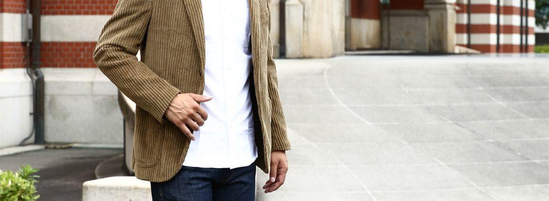 MONTEDORO (モンテドーロ) Corduroy 2B Jacket Wale Garment dyed Corduroy 2Bジャケット テーラード コーデュロイ ジャケット BEIGE (ベージュ・756) 2016 秋冬新作 のコーディネート画像。愛知 名古屋 ZODIAC ゾディアック ジャケットスタイル ジャケパン イタリア クラシコ ピッティー