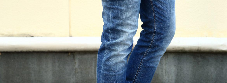 RICHARD J.BROWN(リチャードジェイブラウン) TOKIO ボタンフライ ヴィンテージ加工 テーパードシルエット ストレッチジーンズ BLUE(ブルー・T24 W208)  2016 秋冬 新作のイメージ