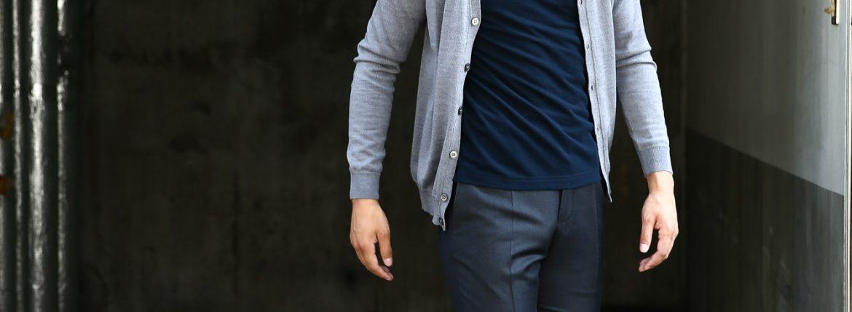 ZANONE(ザノーネ) CARDIGAN Sweaters V-Neck 811823 z0210 VIRGIN WOOL 100% ハイゲージニット ウールニットカーディガン GREY (グレー・Z3093) made in italy(イタリア製)  2016 秋冬新作のイメージ