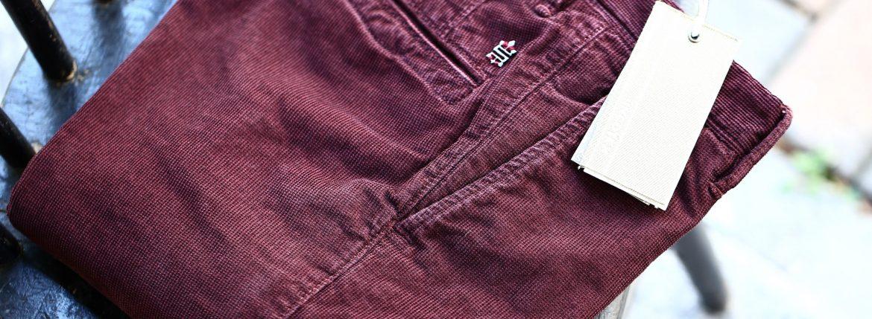 INCOTEX SLACKS(インコテックススラックス) 1ST603 SLIM FIT Garment Dyed Stretch Waffle ストレッチ ワッフルコーデュロイ パンツ BORDEAUX (ボルドー・226) 2016 秋冬新作のイメージ