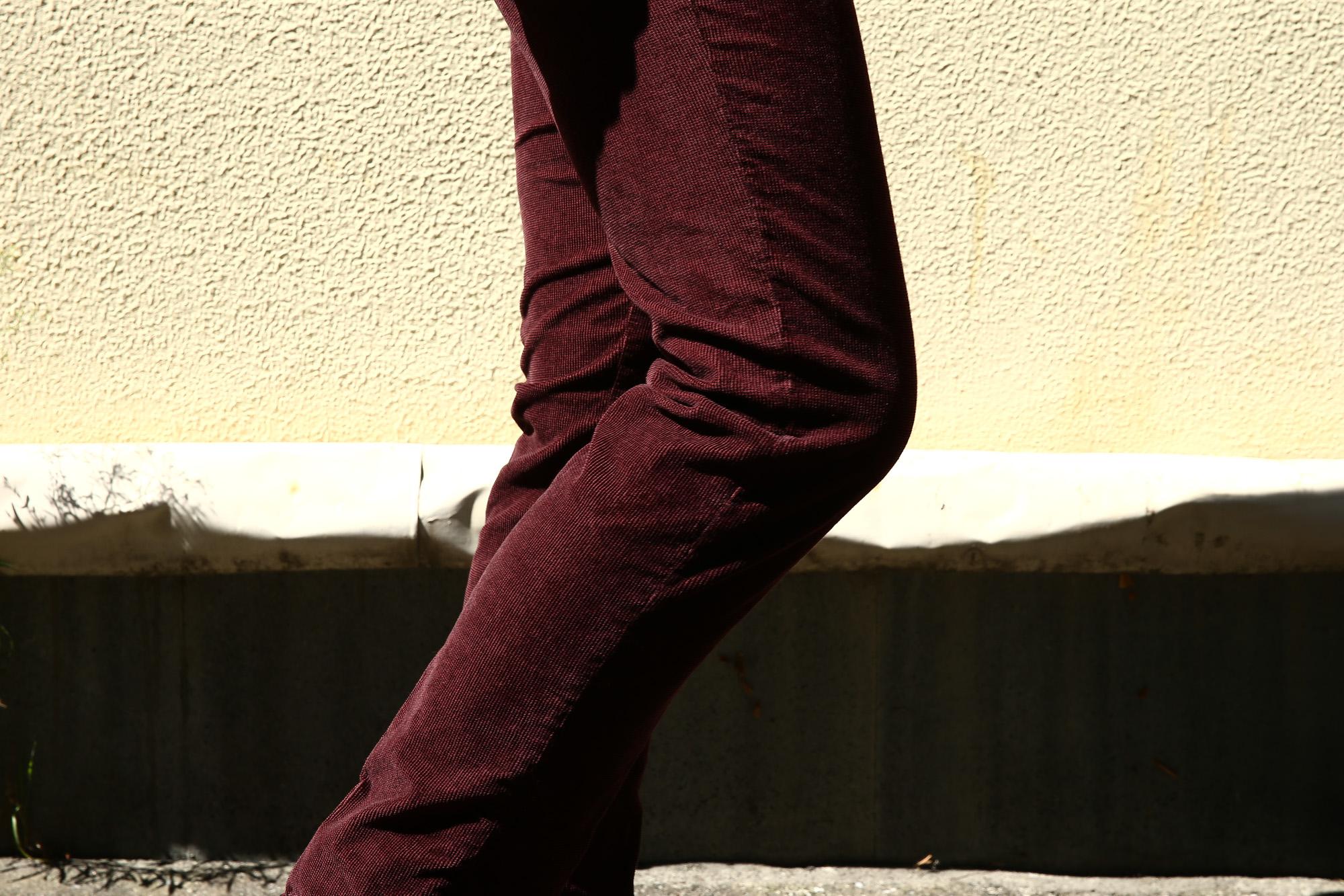 INCOTEX SLACKS(インコテックススラックス) 1ST603 SLIM FIT Garment Dyed Stretch Waffle スリムフィット ガーメントダイ ストレッチ ワッフルコーデュロイ パンツ BORDEAUX (ボルドー・226) 2016 秋冬新作 愛知 名古屋 インコテックス 27 28 29 30 31 32 33