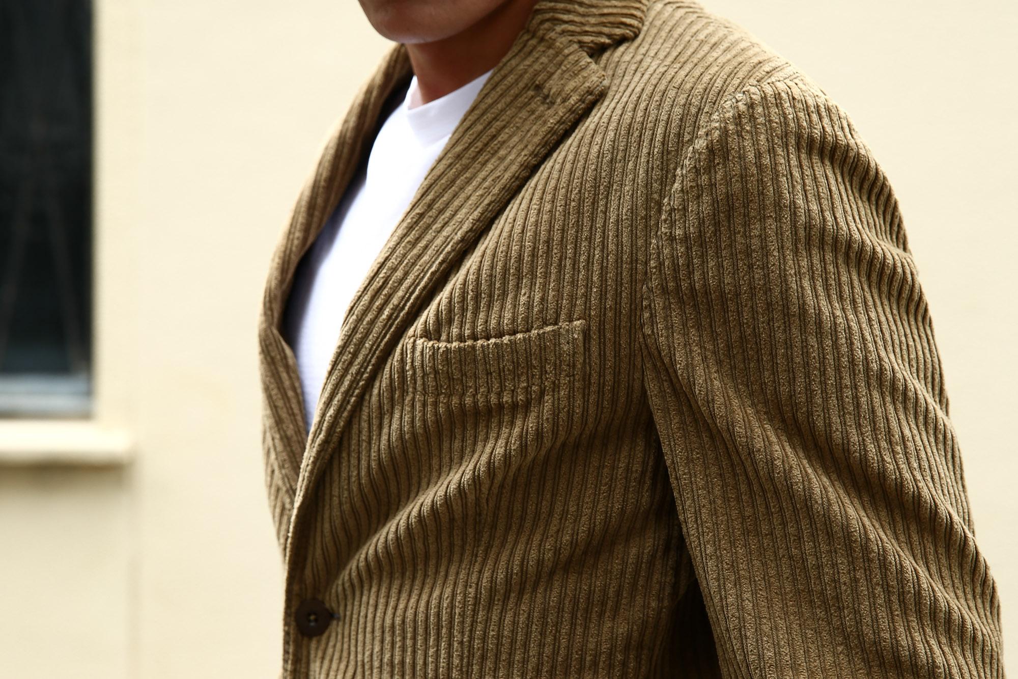 MONTEDORO (モンテドーロ) Corduroy 2B Jacket 2Bジャケット Wale Garment dyed Corduroy テーラード コーデュロイ ジャケット BEIGE (ベージュ・756) 2016 秋冬新作 のコーディネート画像。愛知 名古屋 ZODIAC ゾディアック