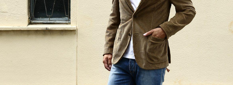 MONTEDORO (モンテドーロ) Corduroy 2B Jacket 2Bジャケット Wale Garment dyed Corduroy テーラード コーデュロイ ジャケット BEIGE (ベージュ・756) 2016 秋冬新作のイメージ