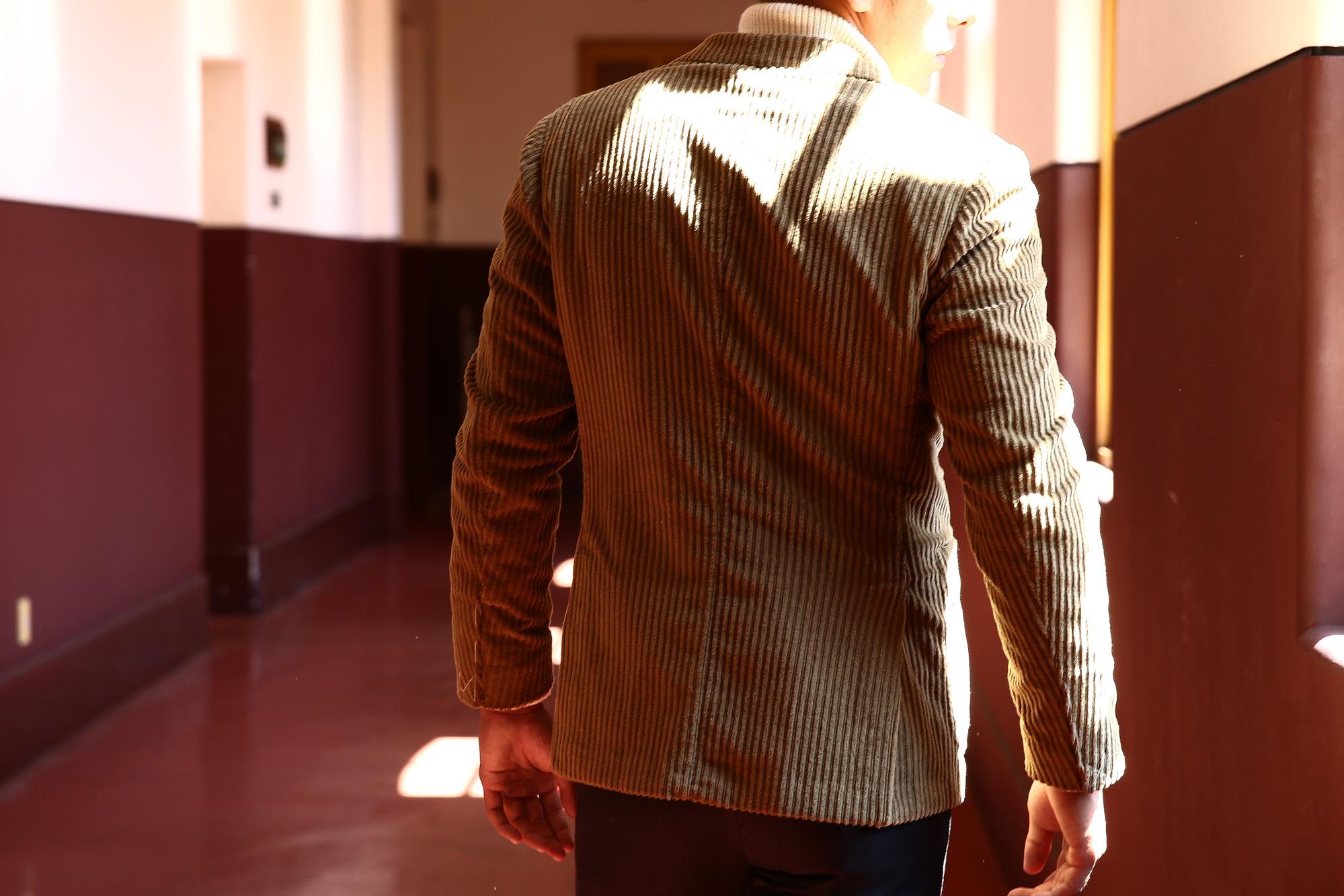 MONTEDORO (モンテドーロ) Corduroy 2B Jacket Wale Garment dyed Corduroy テーラード コーデュロイ ジャケット BEIGE (ベージュ・756) 2016 秋冬新作 のコーディネート画像。愛知 名古屋 ZODIAC ゾディアック LEON レオン モンテドーロ 名古屋