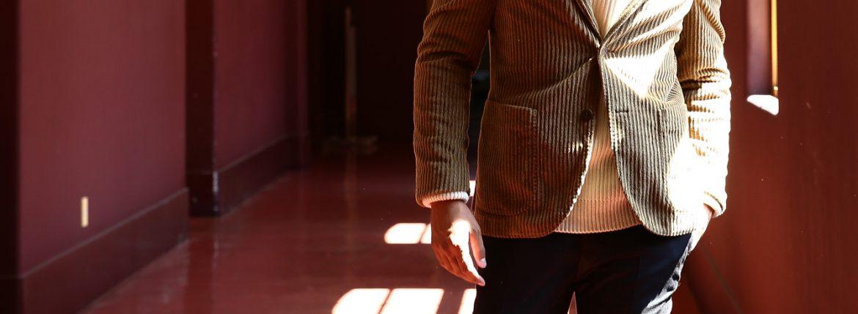 MONTEDORO (モンテドーロ) Corduroy 2B Jacket Wale Garment dyed Corduroy テーラード コーデュロイ ジャケット BEIGE (ベージュ・756) 2016 秋冬新作のイメージ