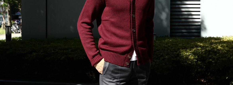 ZANONE (ザノーネ) Shawl Collar Cardigan 811947 Z0229 VIRGIN WOOL 100% ミドルゲージニット ショールカラーカーディガン BORDEAUX (ボルドー・Z4178) MADE IN ITALY 2016 秋冬のイメージ