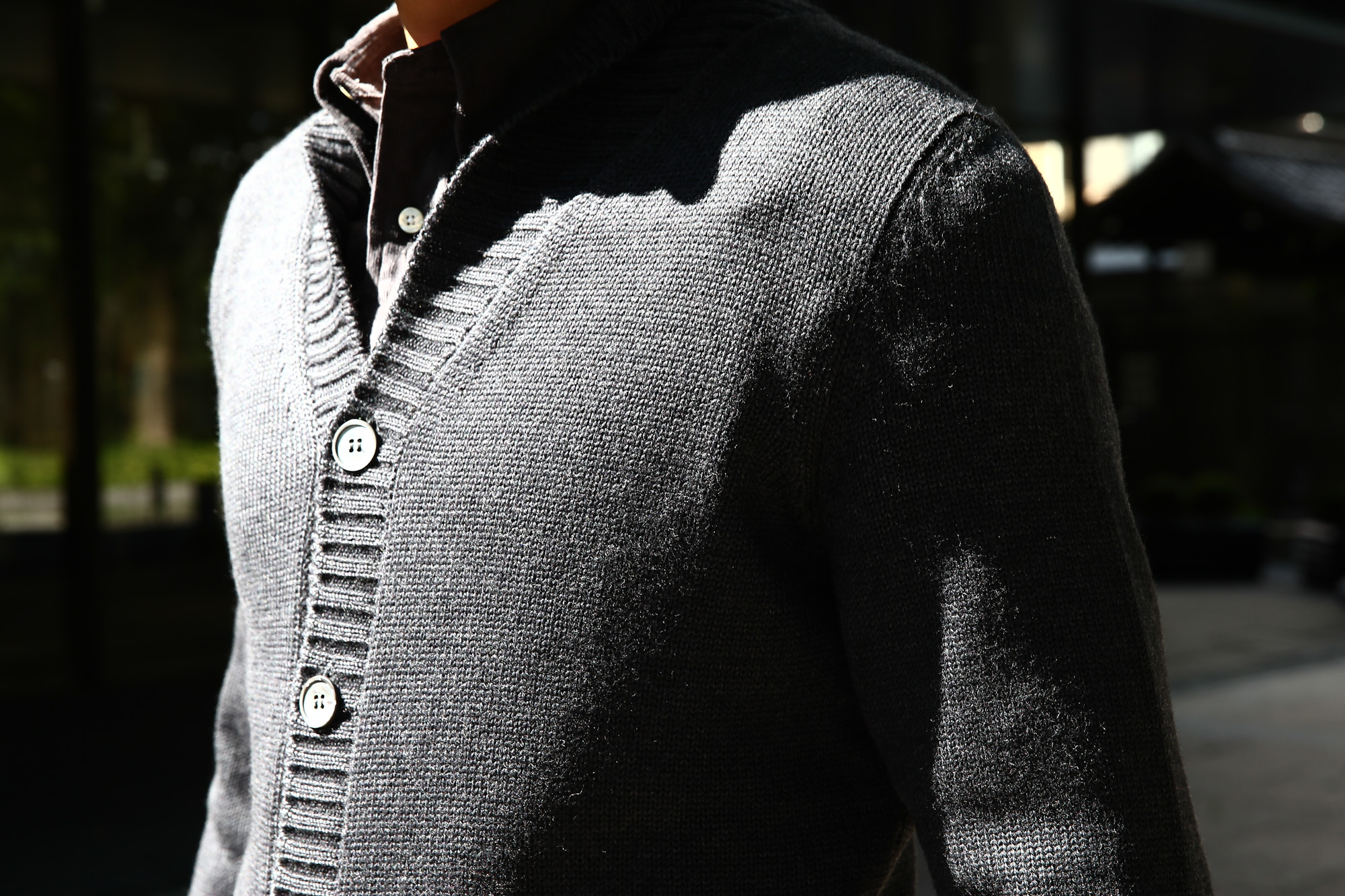ZANONE (ザノーネ) Shawl Collar Cardigan 811947 Z0229 VIRGIN WOOL 100% ミドルゲージニット ショールカラーカーディガン CHARCOAL (チャコール・Z0006) MADE IN ITALY 2016 秋冬 ZODIAC 愛知 名古屋 ザノーネ
