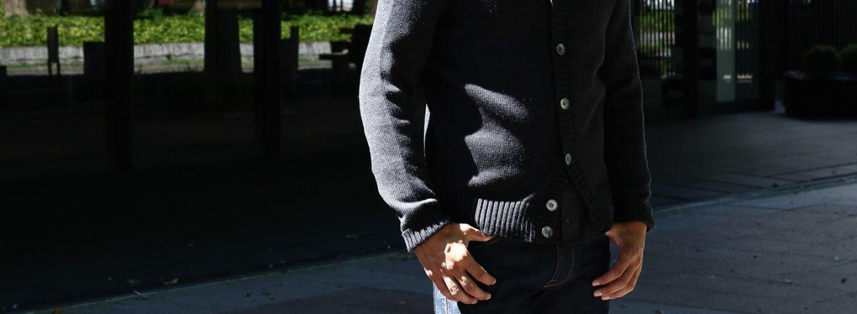 ZANONE (ザノーネ) Shawl Collar Cardigan 811947 Z0229 VIRGIN WOOL 100% ミドルゲージニット ショールカラーカーディガン CHARCOAL (チャコール・Z0006) MADE IN ITALY 2016 秋冬のイメージ