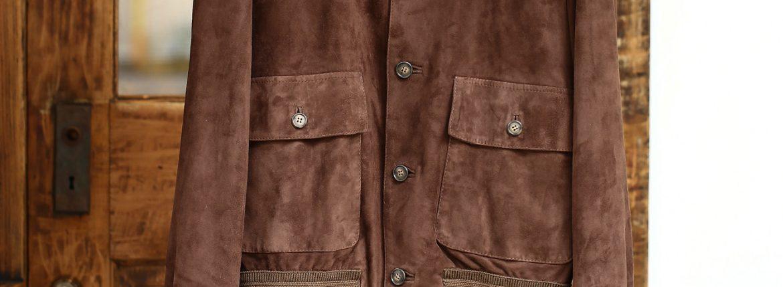 CINQUANTA (チンクアンタ) 6328 BLOUSON VERA PELLE 100% A-1 フライトジャケット ヴァルスター バルスター スエードブルゾン レザージャケット BROWN (ブラウン) Made in italy (イタリア製) 2016 秋冬新作のイメージ