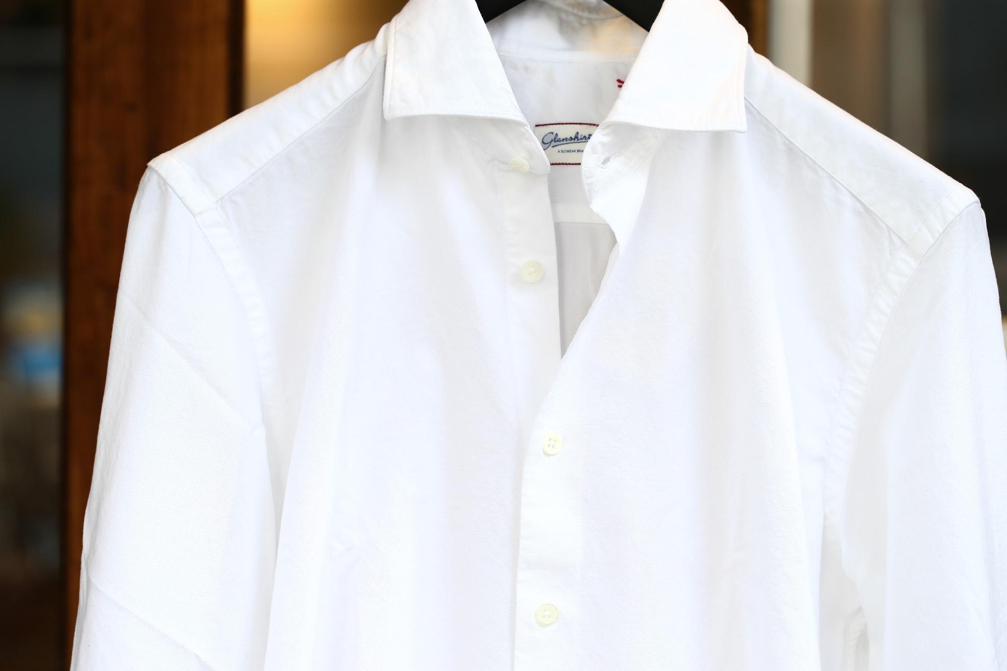 Glanshirt (グランシャツ) JWEEN G6971 OXFORD COTTON 100% カッタウェイシャツ オックスフォードシャツ WHITE (ホワイト・001) MADE IN ITALY(イタリア製) 2016 秋冬新作 愛知 名古屋ZODIAC ゾディアック シャツ 白シャツ 36,37,38,39,40,41