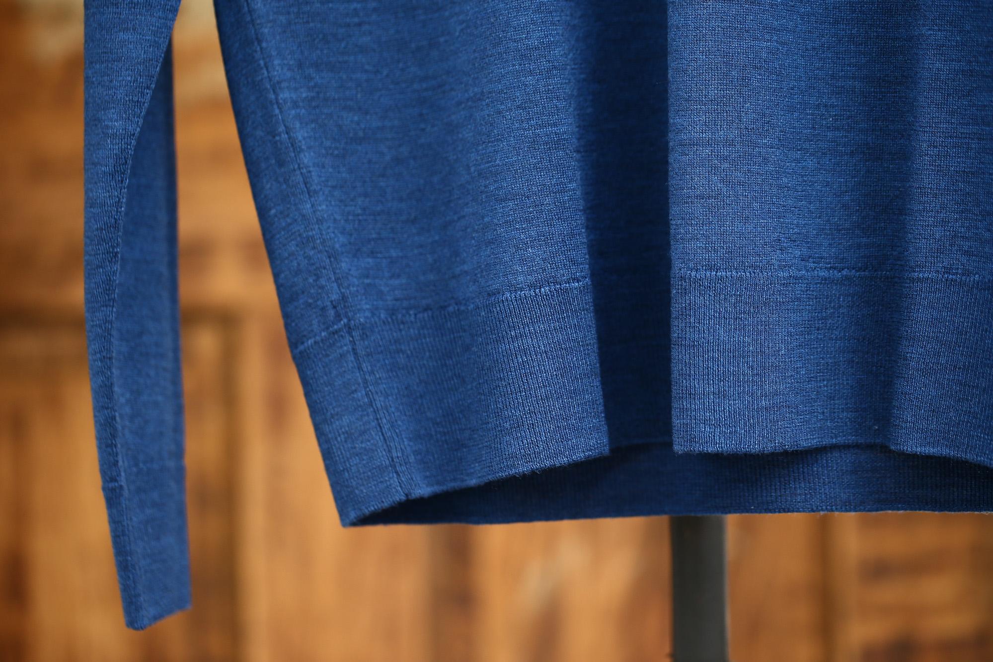 JOHN SMEDLEY (ジョンスメドレー) CLEVES SLIM FIT メリノウール100% ハイゲージニット クルーネックセーター INDIGO (インディゴ) MADE IN GREAT BRITAIN(イギリス製) 2016 秋冬新作 スメドレー 愛知 名古屋 ZODIAC ゾディアック ニット ミッドランド 名古屋 紺 ネイビー