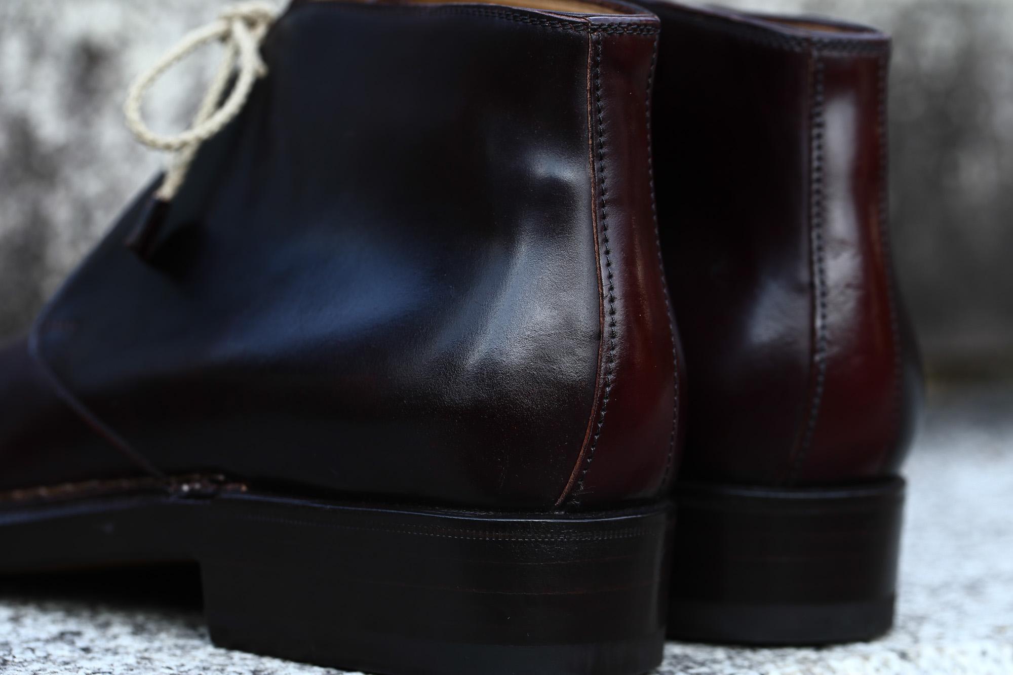 ENZO BONAFE (エンツォボナフェ) ART.3722 Chukka boots Horween Shell Cordovan Leather ホーウィン社 シェルコードバンレザー レザーブーツ コードバンブーツ チャッカブーツ No.8 (バーガンディー) made in Italy(イタリア製) 愛知 名古屋 ZODIAC ゾディアック ボナフェ コードバン ベネチアンクリーム JOHN LOBB ジョンロブ CHURCH'S チャーチ JOSEPH CHEANEY ジョセフチーニー CORTHAY コルテ ALFRED SARGENT アルフレッドサージェント CROCKETT&JONES クロケットジョーンズ F.LLI GIACOMETTI フラテッリジャコメッティ ENZO BONAFE エンツォボナフェ BETTANIN&VENTURI ベッタニンヴェントゥーリ JALAN SRIWIJAYA ジャランスリウァヤ J.W.WESTON ジェイエムウエストン SANTONI サントーニ SERGIO ROSSI セルジオロッシ CARMINA カルミナ
