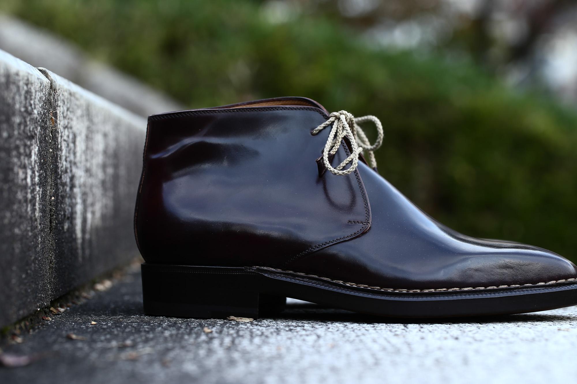 EENZO BONAFE (エンツォボナフェ) ART.3722 Chukka boots Horween Shell Cordovan Leather ホーウィン社 シェルコードバンレザー レザーブーツ コードバンブーツ チャッカブーツ No.8 (バーガンディー) made in Italy(イタリア製) 愛知 名古屋 ZODIAC ゾディアック ボナフェ コードバン ベネチアンクリーム JOHN LOBB ジョンロブ CHURCH'S チャーチ JOSEPH CHEANEY ジョセフチーニー CORTHAY コルテ ALFRED SARGENT アルフレッドサージェント CROCKETT&JONES クロケットジョーンズ F.LLI GIACOMETTI フラテッリジャコメッティ ENZO BONAFE エンツォボナフェ BETTANIN&VENTURI ベッタニンヴェントゥーリ JALAN SRIWIJAYA ジャランスリウァヤ J.W.WESTON ジェイエムウエストン SANTONI サントーニ SERGIO ROSSI セルジオロッシ CARMINA カルミナ