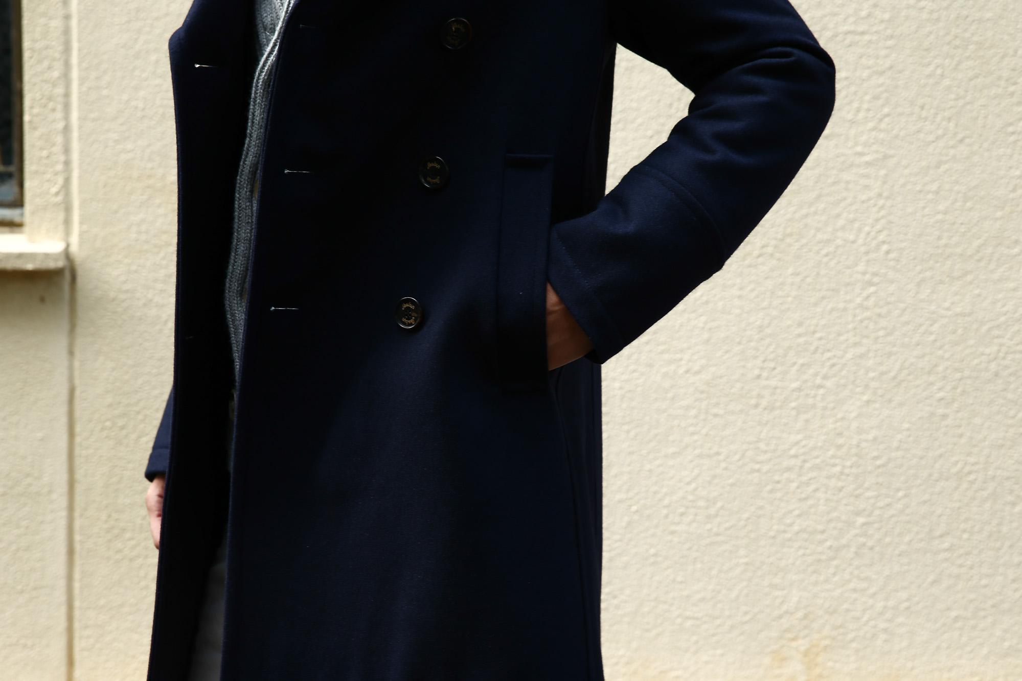 Sealup (シーラップ) GENOVA ジェノバ 50002JAP 7591 01 サーモアライニング メルトンウール Pコート ロングピーコート NAVY (ネイビー・01) MADE IN ITALY(イタリア製) 2016 秋冬新作 のコーディネート画像。愛知 名古屋 ZODIAC ゾディアック シーラップ