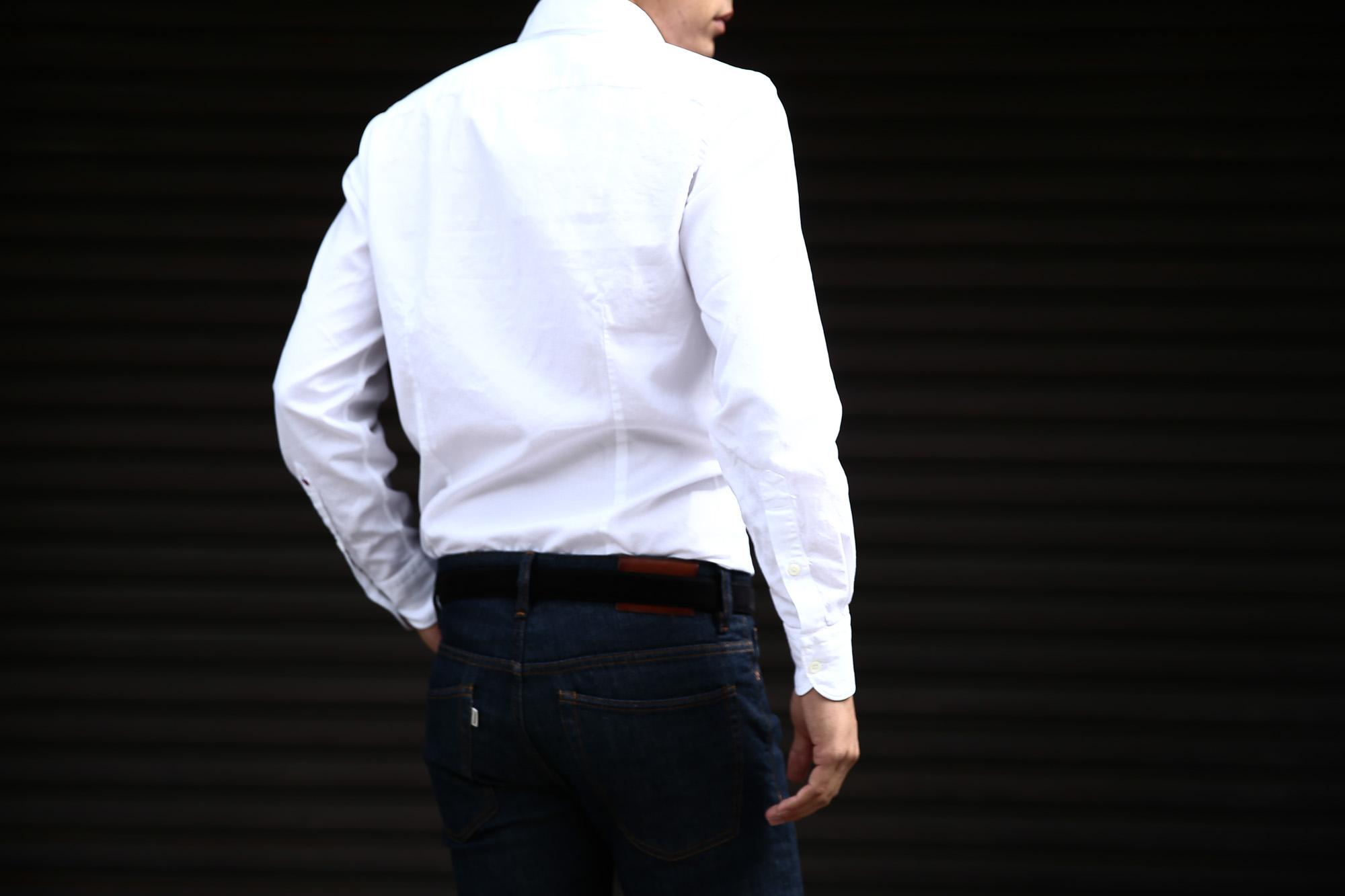 Glanshirt (グランシャツ) JWEEN G6971 OXFORD COTTON 100% カッタウェイシャツ オックスフォードシャツ WHITE (ホワイト・001) MADE IN ITALY(イタリア製) 2016 秋冬新作愛知 名古屋Alto e Diritto アルト エ デリット シャツ 白シャツ 36,37,38,39,40,41