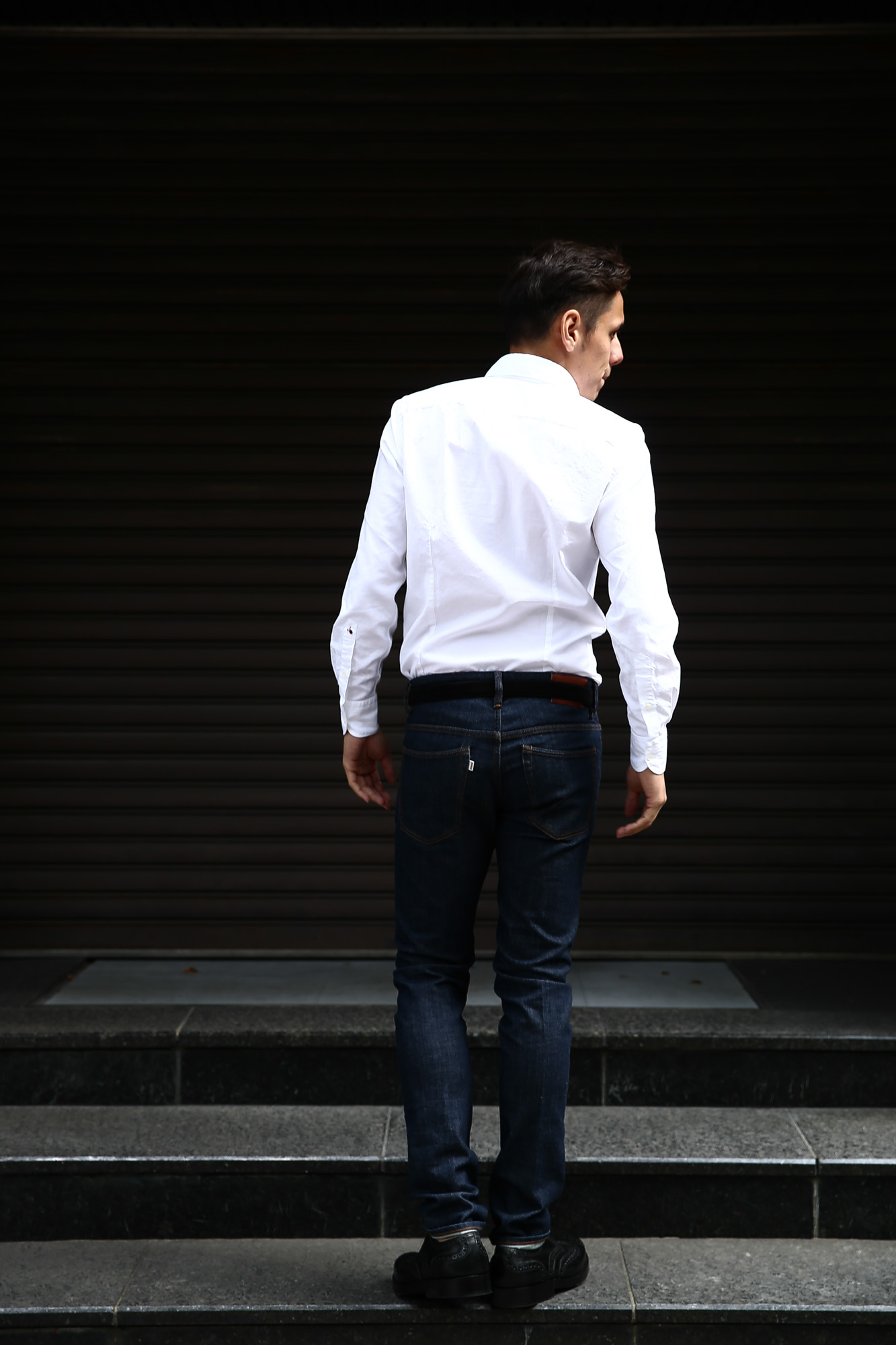 Glanshirt (グランシャツ) JWEEN G6971 OXFORD COTTON 100% カッタウェイシャツ オックスフォードシャツ WHITE (ホワイト・001) MADE IN ITALY(イタリア製) 2016 秋冬新作愛知 名古屋ZODIAC ゾディアック シャツ 白シャツ 36,37,38,39,40,41