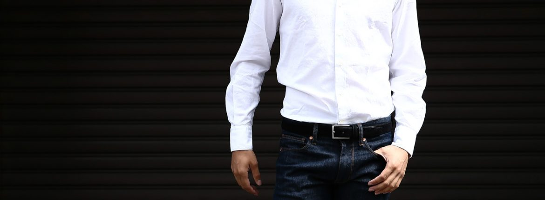 Glanshirt (グランシャツ) JWEEN G6971 OXFORD COTTON 100% カッタウェイシャツ オックスフォードシャツ WHITE (ホワイト・001) MADE IN ITALY(イタリア製) 2016 秋冬新作のイメージ