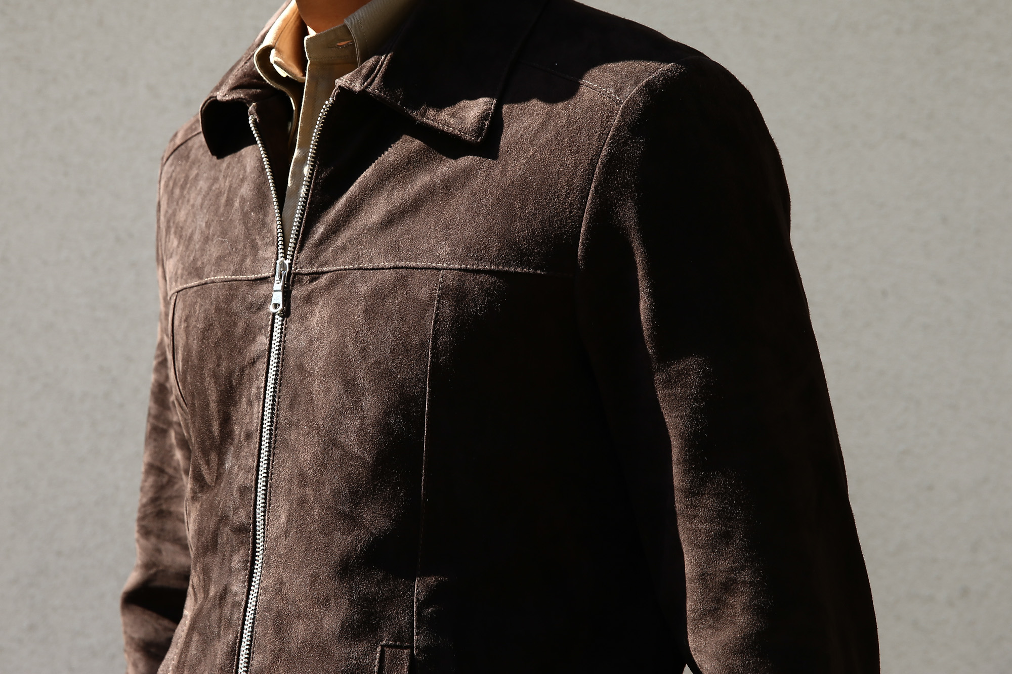 Radice (ラディーチェ) 1008 Suede Leather Jacket Suede Lamb Nappa スエードラムナッパ SLIM FIT スリムフィット シングルレザージャケット MORO (モーロ)  MADE IN ITALY(イタリア製)  2016 秋冬新作 愛知 名古屋ZODIAC ゾディアック レザージャケット ラディーチェ スエードレザー