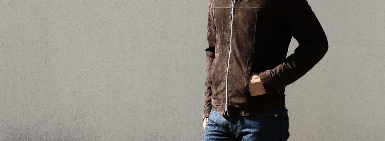 Radice (ラディーチェ) 1008 Suede Leather Jacket Suede Lamb Nappa スエードラムナッパ SLIM FIT スリムフィット シングルレザージャケット MORO (モーロ)  MADE IN ITALY(イタリア製)  2016 秋冬新作のイメージ