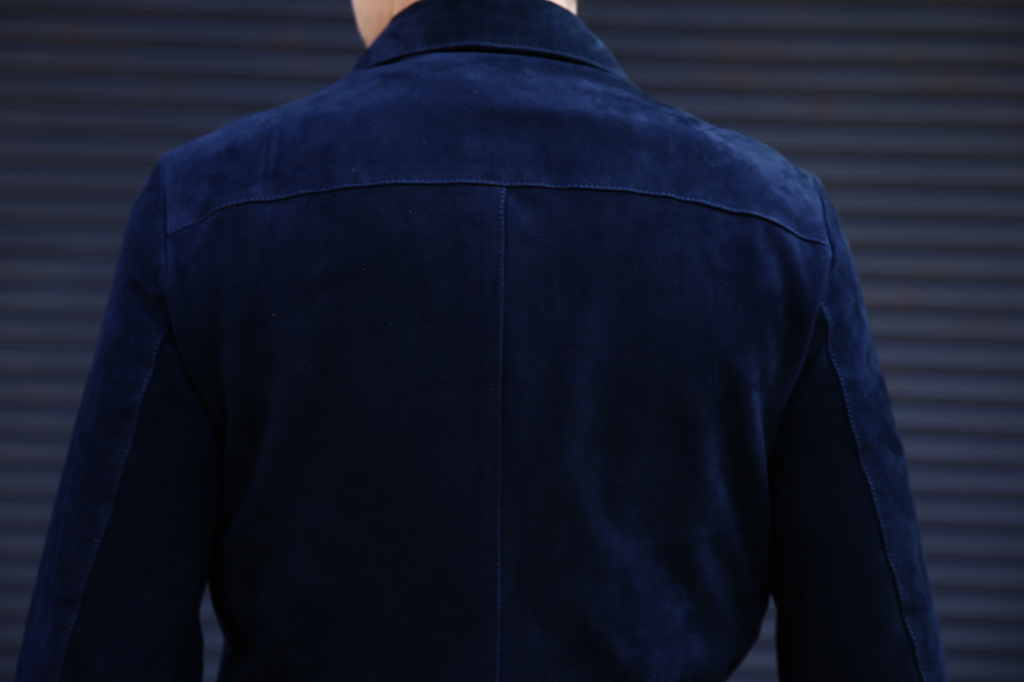 Radice (ラディーチェ) 1008 Suede Leather Jacket Suede Lamb Nappa スエードラムナッパ SLIM FIT スリムフィット シングルレザージャケット NAVY (ネイビー) MADE IN ITALY(イタリア製)  2016 秋冬新作 愛知 名古屋ZODIAC ゾディアック レザージャケット ラディーチェ スエードレザー 青山系