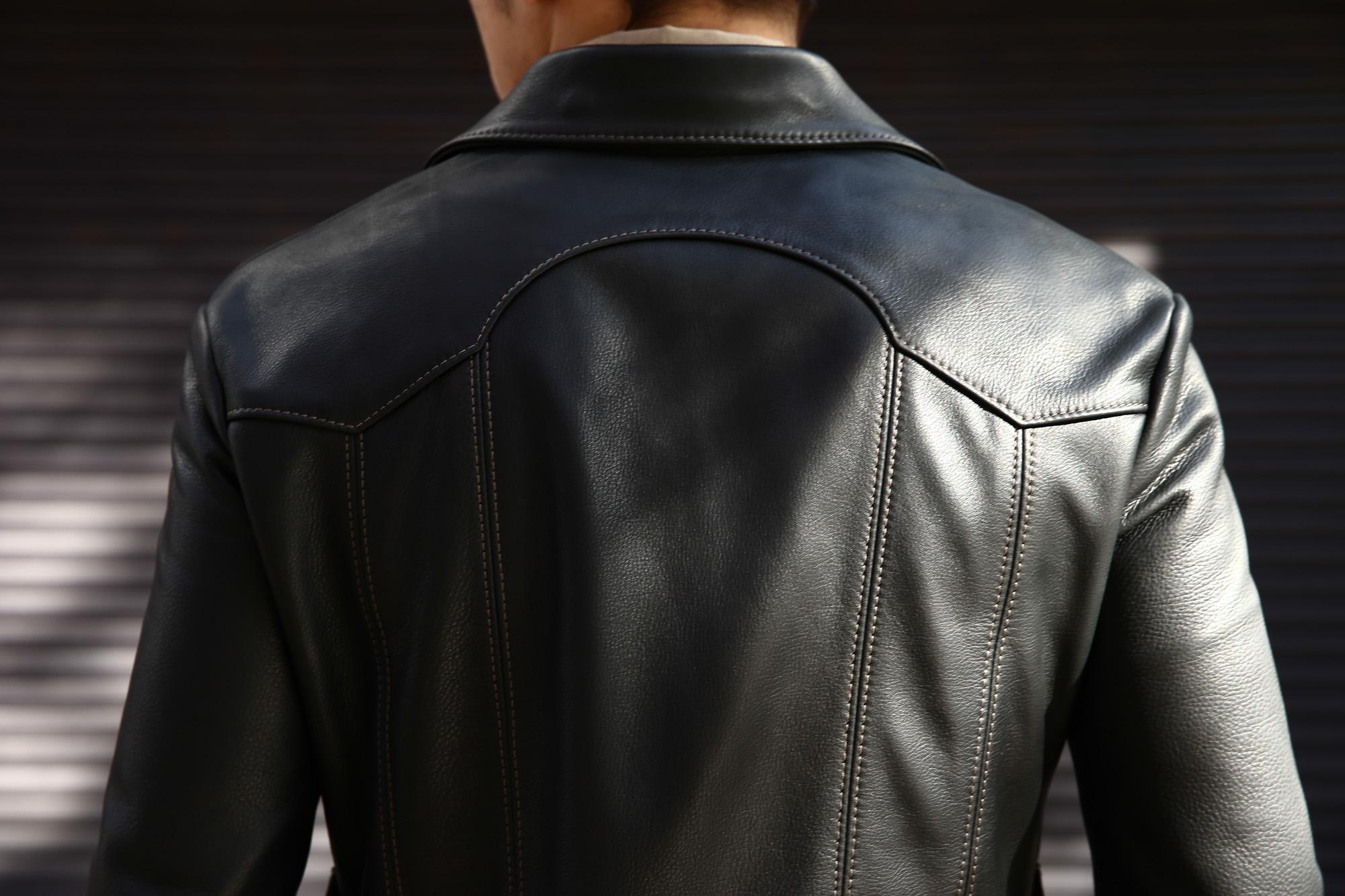 South Paradiso Leather (サウスパラディソレザー) East West イーストウエスト ADLER アードラー Cow Hide Leather レザージャケット BLACK (ブラック) MADE IN USA (アメリカ製) のコーディネート画像。愛知 名古屋 ZOIDAC ゾディアック アドラー サウスパラディソ パラディソ レザー ヴィンテージ ビンテージ