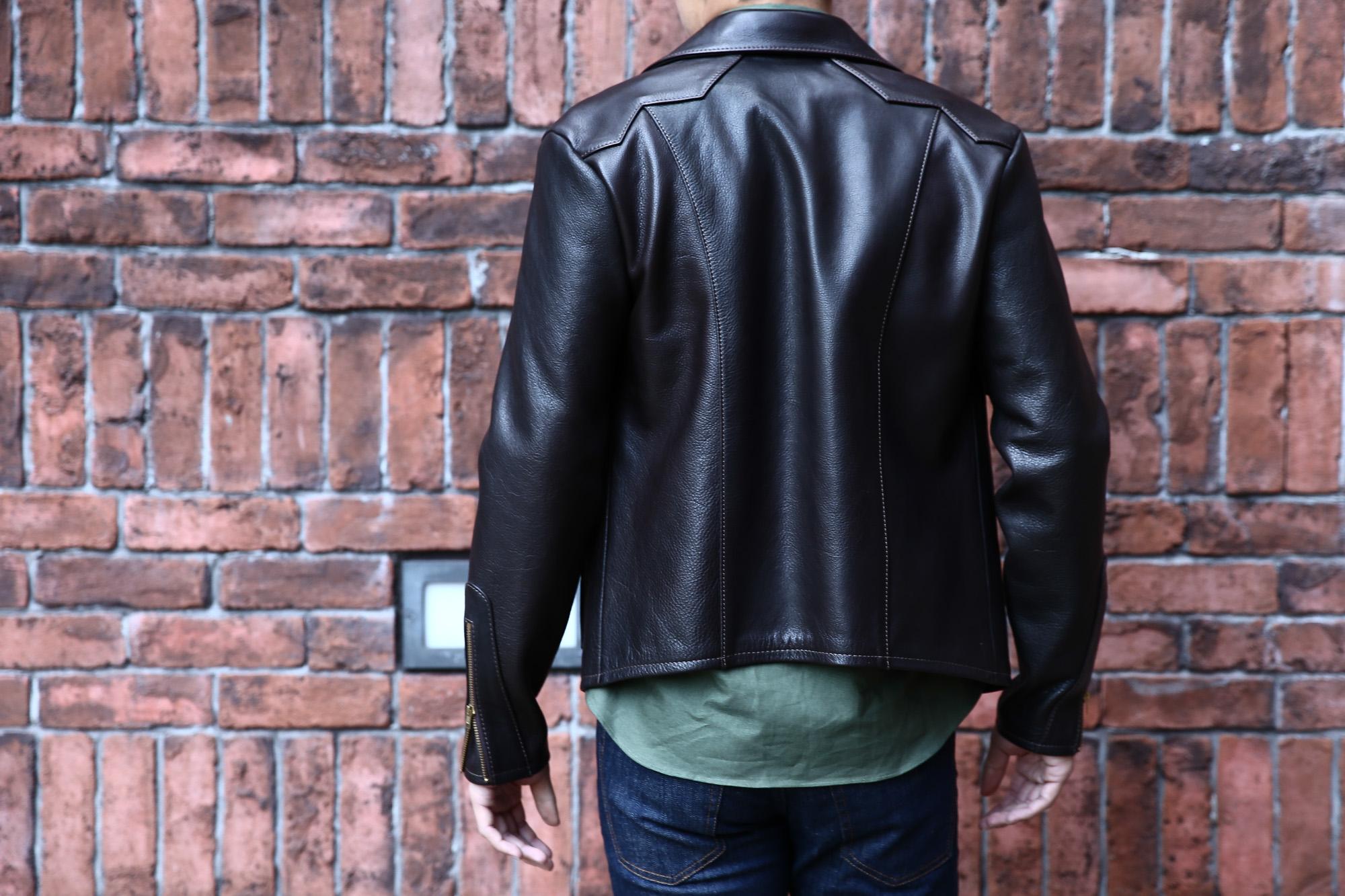 South Paradiso Leather(サウスパラディソレザー) East West イーストウエスト WINCHESTER ウィンチェスター Cow Hide Leather カウハイドレザー レザージャケット DARK BROWN(ダークブラウン) MADE IN USA(アメリカ製) のコーディネート画像、 愛知 名古屋 Alto e Diritto アルト エ デリット サウスパラディソ パラディソ レザー ヴィンテージ ビンテージ