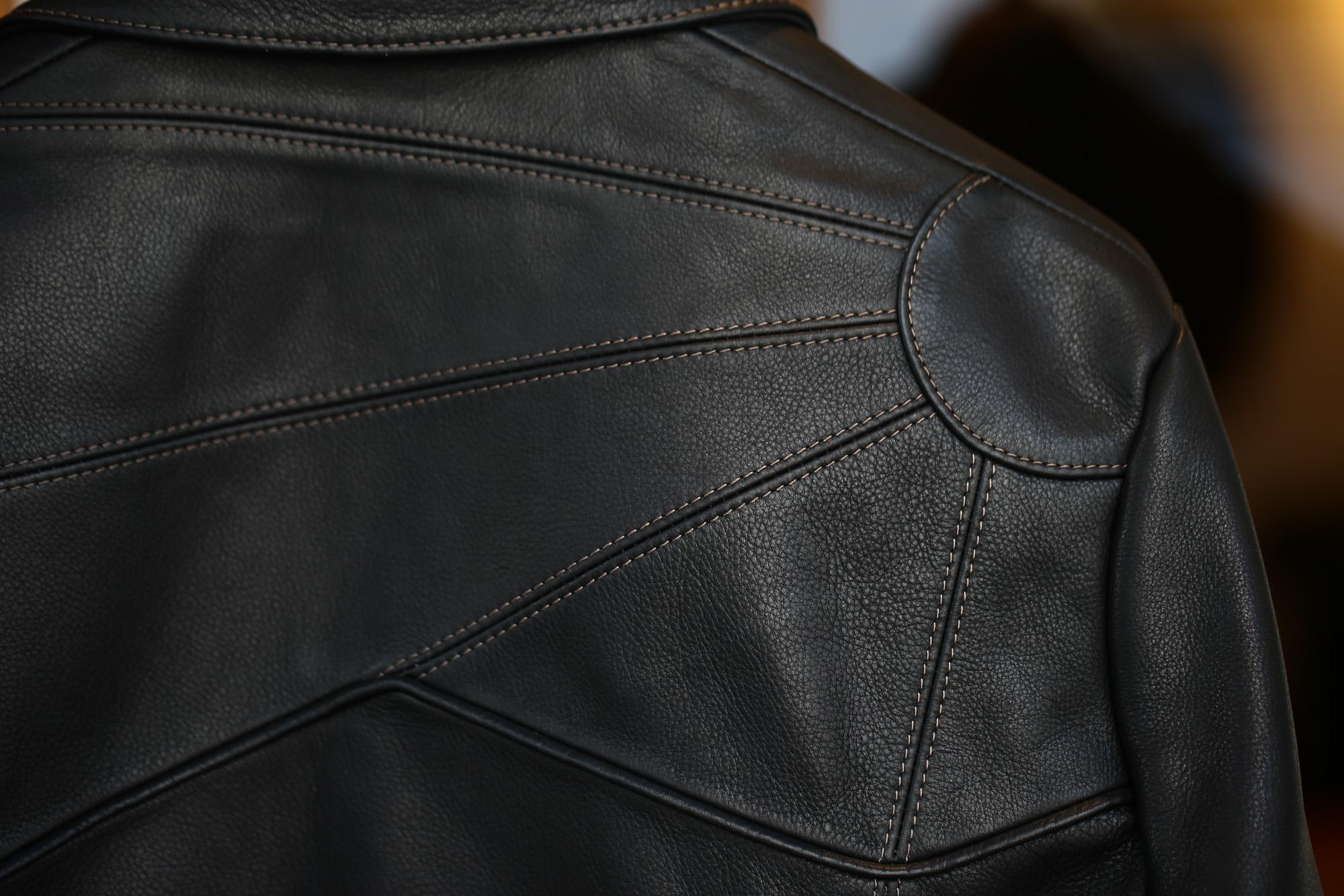 South Paradiso Leather (サウスパラディソレザー) East West イーストウエスト SMOKE スモーク Cow Hide Leather カウハイドレザー レザージャケット BLACK (ブラック) MADE IN USA (アメリカ製) 愛知 名古屋 ZODIAC ゾディアック パラディソ イーストウエスト スモーク ヴィンテージ アドラー アードラー ウィンチェスター イルミナティレインボーシャツ レザー 革ジャン
