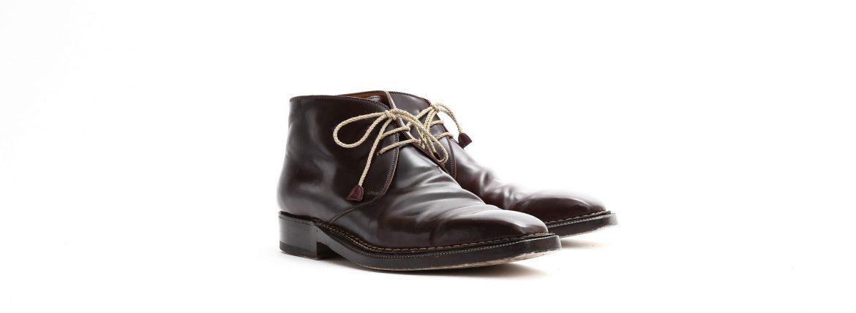 ENZO BONAFE (エンツォボナフェ) ART.3722 Chukka boots チャッカブーツ Horween Shell Cordovan Leather ホーウィン社 シェルコードバンレザー チャッカブーツ コードバンブーツ No.8 (バーガンディー) made in italy (イタリア製) 【6 months 着用 Staff 私物】のイメージ