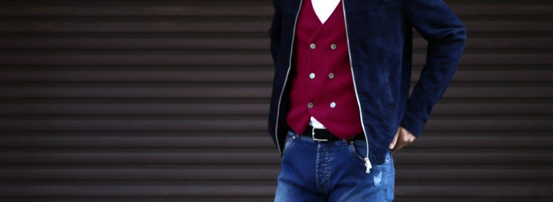 Radice  ラディーチェ 1008 Suede Leather Jacket スエードレザー Suede Lamb Nappa スエードラムナッパレザー SLIM FIT スリムフィット シングルレザージャケット NAVY (ネイビー) MADE IN ITALY(イタリア製)のイメージ