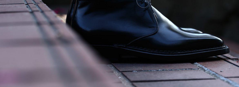 ENZO BONAFE エンツォボナフェ ART.3722 Chukka boots  チャッカブーツ Du Puy Vitello デュプイ社ボックスカーフ Norwegian Welted Process ノルベジェーゼ製法  ノルベ  チャッカブーツ NERO (ブラック) made in italy (イタリア製) 2016 秋冬新作のイメージ