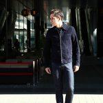 Radice (ラディーチェ) 1008 Suede Leather Jacket Suede Lamb Nappa スエードラムナッパレザー SLIM FIT スリムフィット シングルレザージャケット NAVY (ネイビー) MADE IN ITALY(イタリア製)  2016 秋冬新作のイメージ