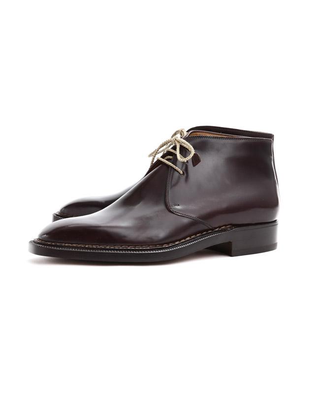 ENZO BONAFE(エンツォボナフェ) ART.3722 Chukka boots チャッカブーツ Horween Shell Cordovan Leather ホーウィン社 シェルコードバンレザー ノルベジェーゼ製法 チャッカブーツ コードバンブーツ No.8(バーガンディー)  made in italy (イタリア製) 2019 春夏