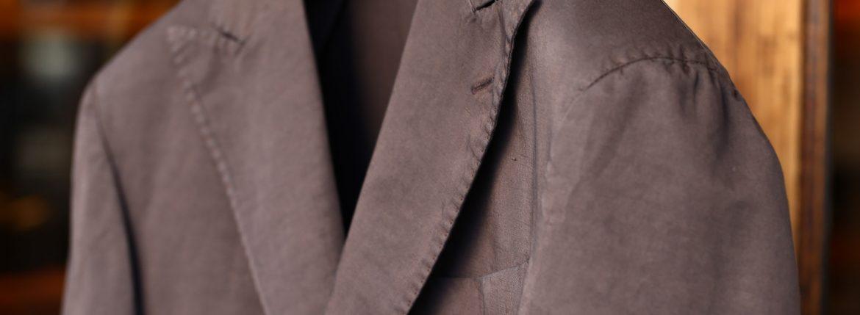BOGLIOLI MILANO (ボリオリ ミラノ) K.JACKET (Kジャケット) コットンリネン アンコンジャケット 2Bジャケット BROWN (ブラウン・06) Made in italy (イタリア製) 2017 春夏新作のイメージ