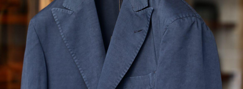 BOGLIOLI MILANO (ボリオリ ミラノ) K.JACKET (Kジャケット) コットンリネン アンコンジャケット 2Bジャケット NAVY (ネイビー77) Made in italy (イタリア製) 2017 春夏新作のイメージ