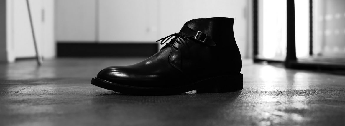 Cuervo (クエルボ) 【2017 AW NEW MODEL】 【Derringer デリンジャー】 Annonay Vocalou Calf Leather Goodyear Welt Process Leather Sole  BLACK MADE IN JAPAN【1st sample】のイメージ