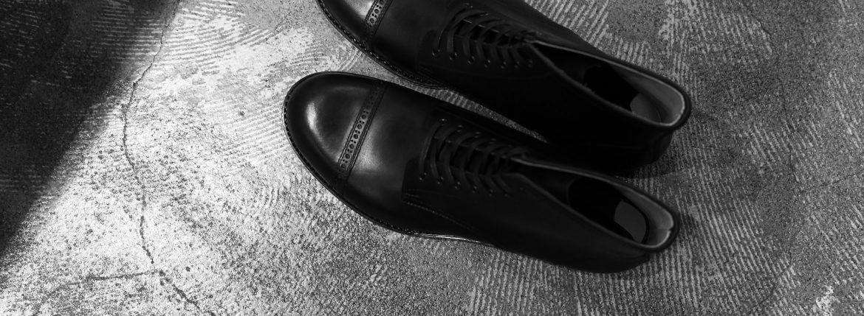Cuervo (クエルボ) 【2017 AW NEW MODEL】 【Romeo ロメオ】 Bridle Leather ブライドルレザー Goodyear Welt Process グッドイヤーウェルト製法 Double Leather Sole ダブルレザーソール セミドレスブーツ レザーブーツ ドレスシューズ BLACK (ブラック・BK) MADE IN JAPAN(日本製) 【1st sample】のイメージ