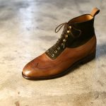 ENZO BONAFE(エンツォボナフェ) ART.3922 Bonaudo Museum Calf Leather(ボナウド社ミュージアムカーフレザー) SUPERBUCK NERO 2tone レザーブーツ PEWPER(グレー)×NERO(ネロ) made in italy(イタリア製) 2018 春夏のイメージ
