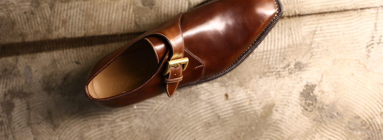 ENZO BONAFE(エンツォボナフェ) ART.3721 Single Monk Strap Shoes シングルモンクストラップシューズ Horween Shell Cordovan Leather ホーウィンシェルコードバンレザー No.4(ワイン) MADE IN ITALY(イタリア製)のイメージ