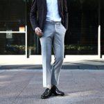 INCOTEX (インコテックス) 1NT035 SLIM FIT N35型 スリムフィット SUPER 100'S YARN DYED TROPICAL サマーウール トロピカルウール スラックス LIGHT GRAY (ライトグレー・901) 2017 春夏新作のイメージ